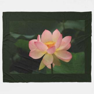 Cobertor De Velo Flor de Lotus original do rosa de jardim do zen