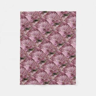 Cobertor De Velo Flor listrada cor-de-rosa