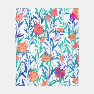 Cobertor De Velo Floral vibrante