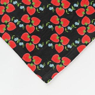 Cobertor De Velo Flores azuis de Ditsy das morangos frutados