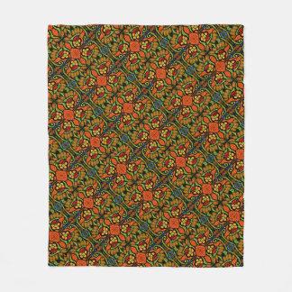 Cobertor De Velo Flores coloridas das bolinhas do teste padrão do