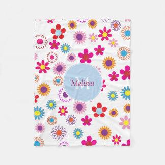 Cobertor De Velo Flores coloridas engraçadas bonitos modernas