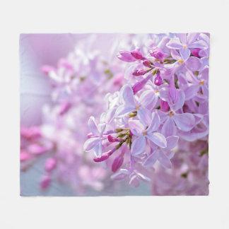 Cobertor De Velo Flores cor-de-rosa do lilac
