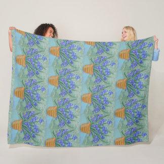 Cobertor De Velo Flores da íris
