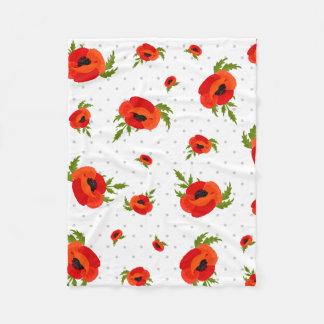 Cobertor De Velo Flores da papoila