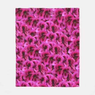 Cobertor De Velo Flores magentas do gerânio, cobertura média do