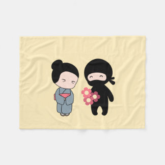 Cobertor De Velo Flores minúsculas de Ninja Gifting à mulher
