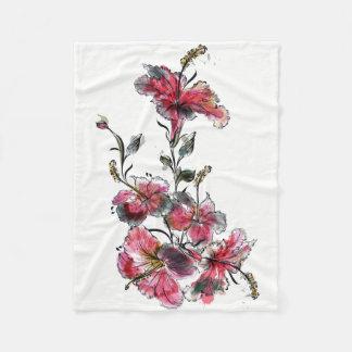Cobertor De Velo Flores tropicais do hibiscus