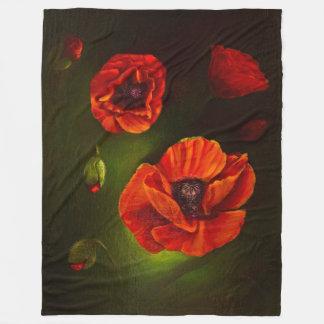 Cobertor De Velo Flores vermelhas da papoila