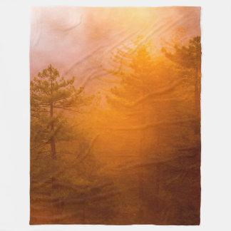 Cobertor De Velo Floresta dourada da corriola