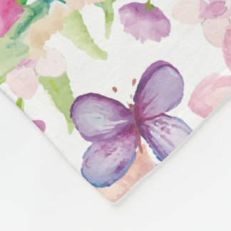 Cobertor De Velo Fluxo - LONDRES - grande cobertura floral do velo