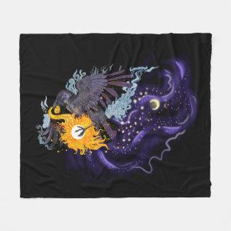 Cobertor De Velo Folclore do céu do corvo
