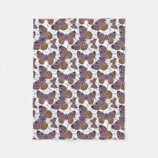 Cobertor De Velo Folha DE COBRE do redemoinho da BORBOLETA do