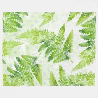 Cobertor De Velo Folhas bonito do verão do primavera da samambaia