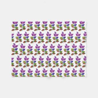 Cobertor De Velo Folhas do arco-íris da aguarela