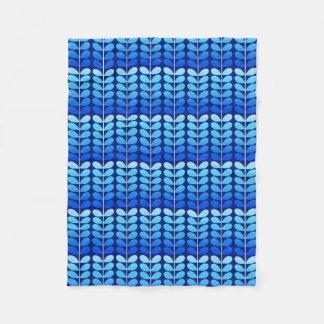 Cobertor De Velo Folhas, marinho e azuis cobaltos dinamarqueses do