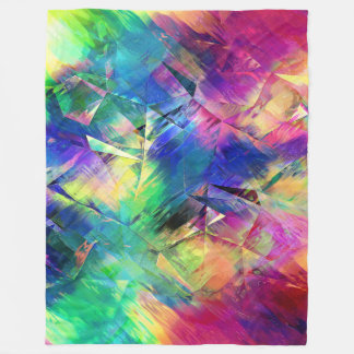Cobertor De Velo Formas e texturas coloridas abstratas
