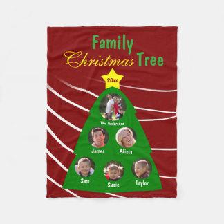 Cobertor De Velo Foto do costume da lembrança da árvore de Natal da