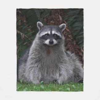Cobertor De Velo Foto do guaxinim da floresta