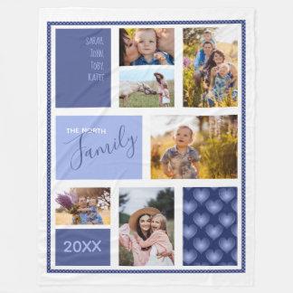 Cobertor De Velo Fotos de família ID469 azul dos corações do bloco