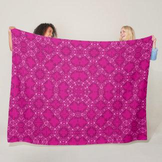 Cobertor De Velo Foulard cor-de-rosa real do cetim do Victorian do