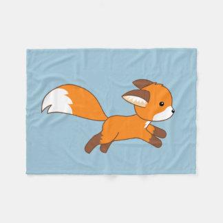 Cobertor De Velo Fox bonito do corredor no azul