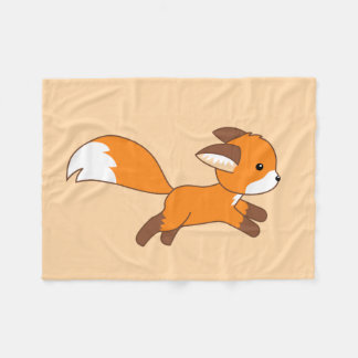 Cobertor De Velo Fox bonito do corredor no creme