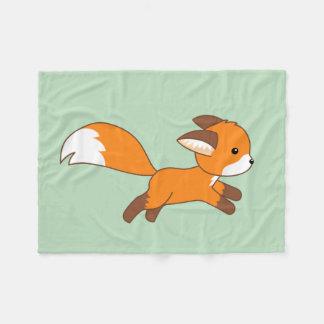 Cobertor De Velo Fox bonito do corredor no verde