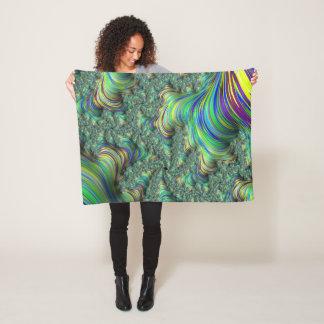 Cobertor De Velo Fractal colorido