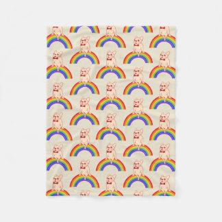 Cobertor De Velo Frenchie comemora o mês do orgulho no arco-íris de