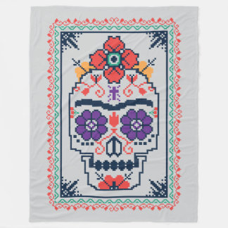 Cobertor De Velo Frida Kahlo | Calavera