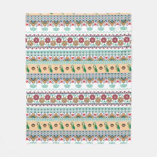 Cobertor De Velo Frida Kahlo | Patrón de Colores