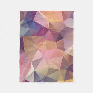 Cobertor De Velo Fundo amarelo roxo cor-de-rosa do polígono.