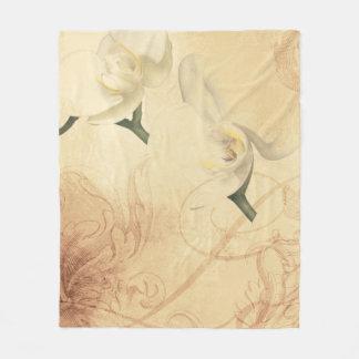 Cobertor De Velo Fundo da orquídea do vintage