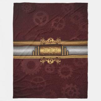 Cobertor De Velo Fusão do art deco de Steampunk do monograma,