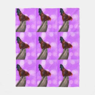 Cobertor De Velo Galo Parker Nosy, cobertura média cor-de-rosa do