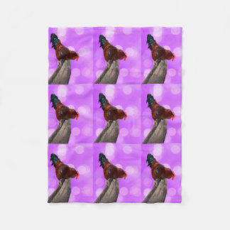 Cobertor De Velo Galo Parker Nosy, cobertura pequena cor-de-rosa do