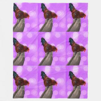 Cobertor De Velo Galo Parker Nosy, grande cobertura cor-de-rosa do
