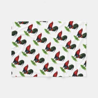 Cobertor De Velo Gamecock:  Escuro - vermelho