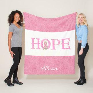 Cobertor De Velo Gatinho da esperança personalizado
