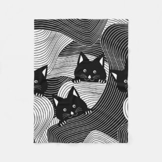 Cobertor De Velo Gatinhos loucos