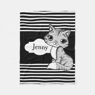 Cobertor De Velo Gato bonito do gatinho