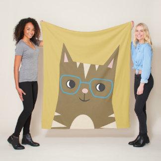 Cobertor De Velo Gato de gato malhado com vidros