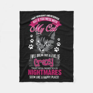 Cobertor De Velo Gato louco