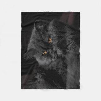 Cobertor De Velo Gato preto macio que relaxa