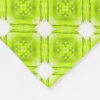 Cobertor De Velo Geométrico verde e branco do quivi