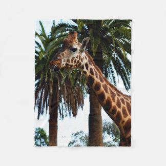 Cobertor De Velo Girafa engraçado que funde uma framboesa, pequena
