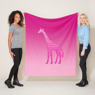 Cobertor De Velo Girafa, fúcsia e luz geométricos modernos - rosa