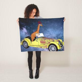 Cobertor De Velo Girafa na cobertura do velo do espaço