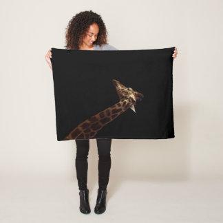 Cobertor De Velo Girafa no fundo preto, pequeno